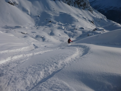 First tracks of the day