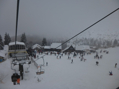The tiny resort of Brezovica, Kosovo, where sledging is clearly the national sport!