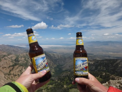 It seemed fitting to drink a Utah beer at the top, overlooking the famous Great Salt Lake