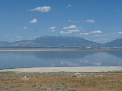 The Salt Lake itself, no-one around but us...