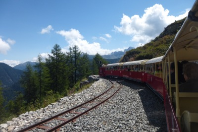 Setting off on the tiny tourist train