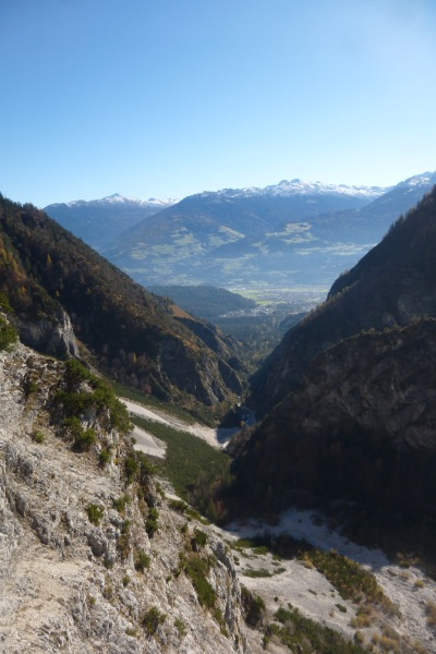 The views down to Hall in Tirol below
