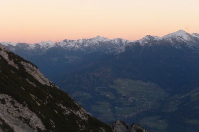 Sunset from our privileged view point at 2000m