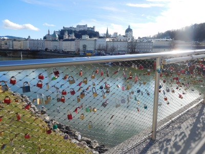 The amazing bridge of padlocks