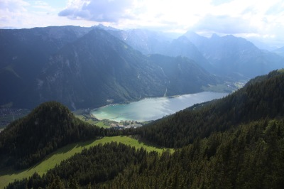 Achensee from the cable car station with the Karwendel National Park behind. Wow.